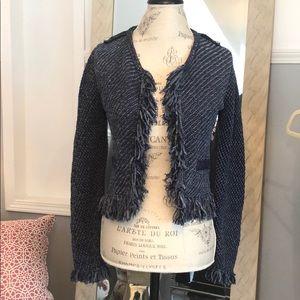White House Black Market knit sweater jacket